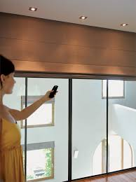 Battery Operated Window Blinds Bedroom Remote Control Blinds Powered Online Throughout Battery