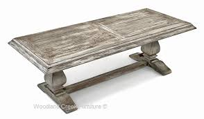 Trestle Coffee Table Cottage Chic Coffee Table Rustic Cocktail White Wash