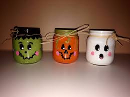 halloween mason jar crafts baby food jar frankenstein pumpkin u0026 ghost halloween