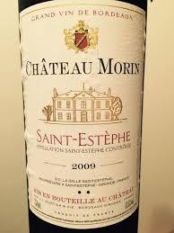 learn about st estephe bordeaux 2009 château morin bordeaux médoc st estèphe