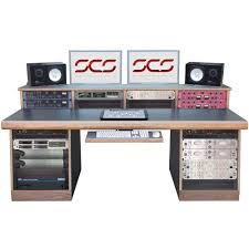 Studio Desk Rack by Sound Construction Task 4x4 Studio Desk Black Vintage King Pro
