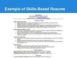 Example Of A Skills Based Resume by Resume U0026 Skill Building Workshop