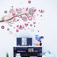 bohemia flowers bird removable wall stickers art decals mural bohemia flowers bird removable wall stickers art decals mural sales online medium tomtop com