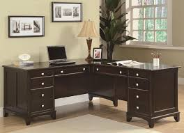 L Shaped Modern Desk by Black L Shaped Modern Home Office Desk With Drawers And Locker For