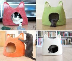 Cat Bed Pattern 11 Cat Caves That Prove Cat Beds Can Be Stylish Contemporist