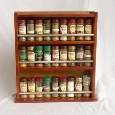 18 Jar Spice Rack Spice Rack Wooden Closed 3 Tiers Metal Bar 54 Jars