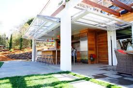 Garage Door Conversion To Patio Door Sectional Glass Garage Doors Used In Modern Designs