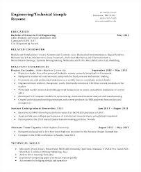Sample Of Resume For Civil Engineer Sample Resume For Experienced Civil Engineer Technical Engineering