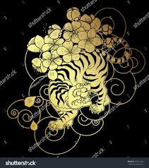 100 japanese cloud tattoo flowers and tiger tattoo design