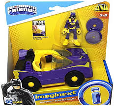 imaginext batmobile with lights batgirl batmobile with purple light up headlights legends of