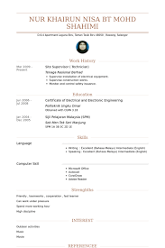 Electronic Resume Example by Site Supervisor Resume Samples Visualcv Resume Samples Database
