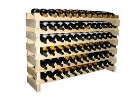 magnificent horizontal wine rack design with wooden modular wine