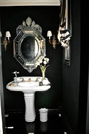 Black And Gold Bathroom Black And White Drama Contemporary Bathroom New York By