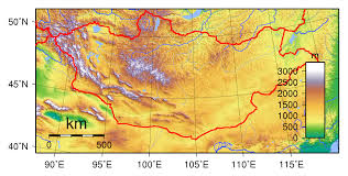 World Elevation Map by Maps Of Mongolia Detailed Map Of Mongolia In English Tourist
