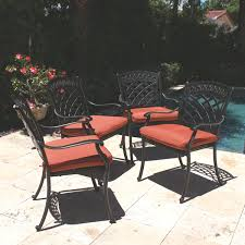 48 Round Patio Table by Comfortcare 5 Piece Metal Outdoor Dining Set With 48
