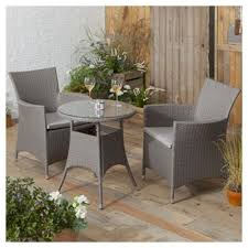 Grey Bistro Table Buy Tesco San Marino Rattan Garden Bistro Set Grey From Our