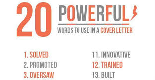 Words To Use In Resumes Good Words To Use In A Cover Letter Words To Use In Cover Letter
