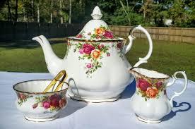 country roses tea set tea across the pond