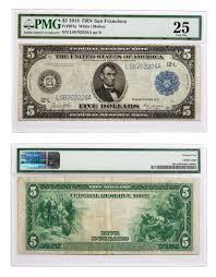 1914 5 federal reserve note san francisco pmg vf25 sku47760 ebay