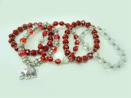 handmade charm bracelet images Arya crystal beads charm bracelet hautecorals jpg