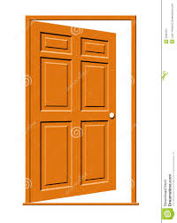 open door illustration stock image image 4562451