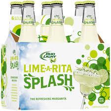 drink splash bud light lime rita splash lime 6 pack 12 fl oz walmart com