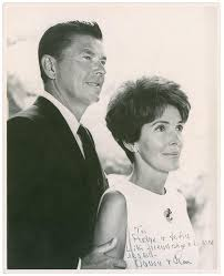 Nancy Reagan Signature Ronald And Nancy Reagan
