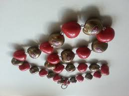 kukui nut san francisco 49ers synthetic kukui nut necklace