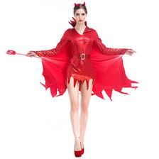 Halloween Costume Devil Woman Discount Devil Woman Red Dress 2017 Devil Woman Red Dress