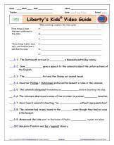 liberty u0027s kids video guide worksheet quiz schooling