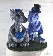 dinosaur wedding cake topper mythical and cake toppers my custom cake topper