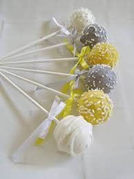 yellow and gray baby shower cake pops yellow and gray baby shower cake pops made to order