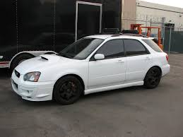 subaru wrx hatch white 2005 subaru wrx wagon aspen white tony win flickr