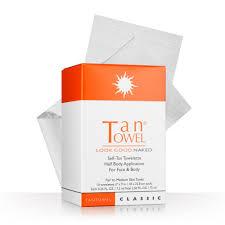 amazon com tan towel self tan towelette classic 10 count luxury