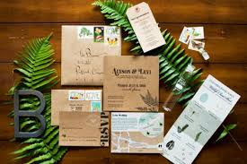 recycled lovely invitations table 6 productions wedding and