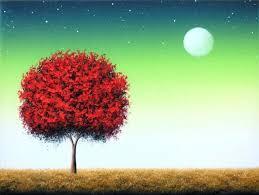 landscape original painting tree painting canvas