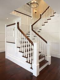 Dark Wood Banister Traditional Staircase Traditional Entrance Foyer Benjamin