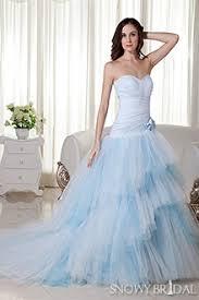 Blue Wedding Dress Light Blue Wedding Dresses Simple Light Blue Bridal Gown Snowybridal