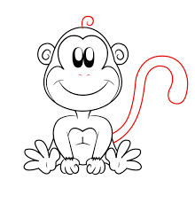 how to draw a cartoon monkey online drawing lessons