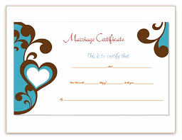 marriage certificate template soft templates
