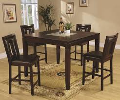 deep espresso finish modern 5pc counter height dining set