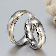 aliexpress buy vnox 2016 new wedding rings for women aliexpress buy vnox wedding rings for women men 316l