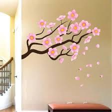 flower branch wall mural decal garden wall decal murals