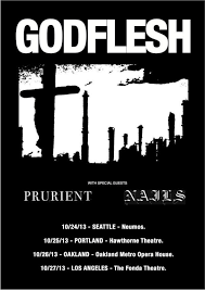 nails west coast us tour supporting godflesh plus tih fest in