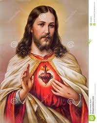 typical catholic image of of jesus stock photo