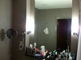 Messy Bathroom Messy Bathroom But Plenty Of Counter Space Concave Mirror With