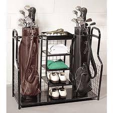 Garage Golf Bag Organizer - keeps your game gear in order garage organizers pinterest