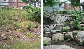 Retaining Wall Ideas For Sloped Backyard Retaining Walls In Chester County Naturescapes Landscaping Of Paoli