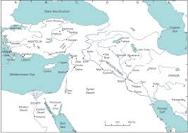 Ucsd Maps Basic Map Of The Eastern Mediterranean Myths Of The Near East