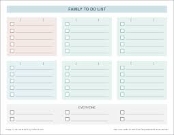 Todo List Template Excel Family To Do List